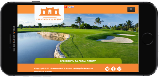 Website aseangolf thiết kế cho mobile